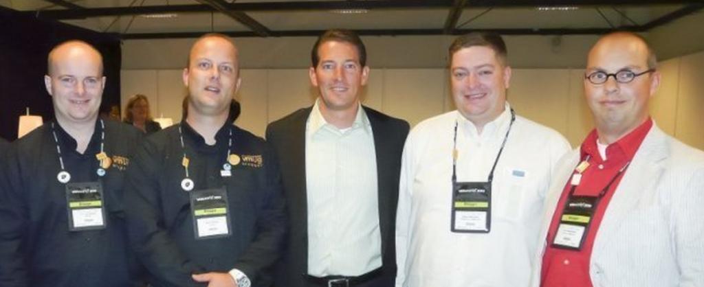 The VMguru team with former VMware CTO Steve Herrod at VMworld 2010