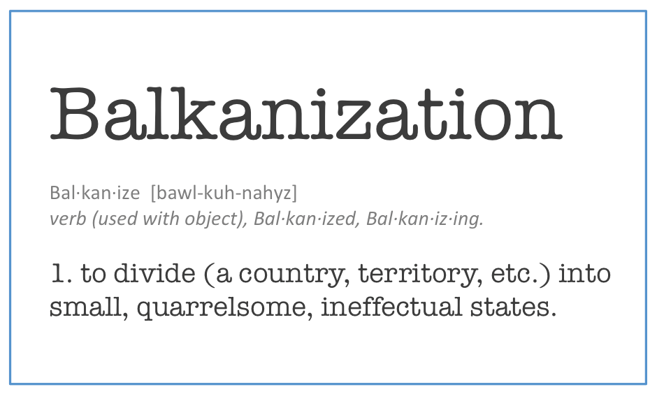 Image result for balkanization