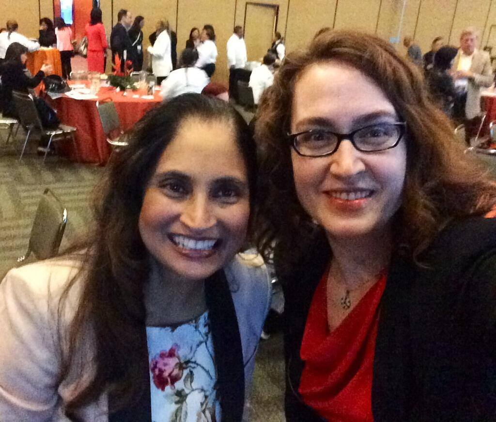 Just Amy with Cisco CTO Padmasree Warrior. NBD.